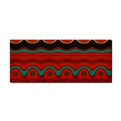 Orange Black And Blue Pattern Cosmetic Storage Cases by theunrulyartist
