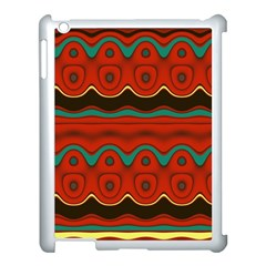 Orange Black And Blue Pattern Apple Ipad 3/4 Case (white) by theunrulyartist