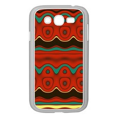 Orange Black And Blue Pattern Samsung Galaxy Grand Duos I9082 Case (white) by theunrulyartist