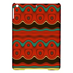 Orange Black And Blue Pattern Ipad Air Hardshell Cases by theunrulyartist