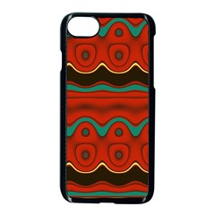 Orange Black And Blue Pattern Apple Iphone 7 Seamless Case (black) by theunrulyartist