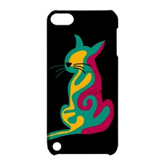 Colorful Abstract Cat  Apple Ipod Touch 5 Hardshell Case With Stand by Valentinaart