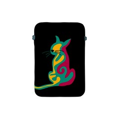 Colorful Abstract Cat  Apple Ipad Mini Protective Soft Cases by Valentinaart