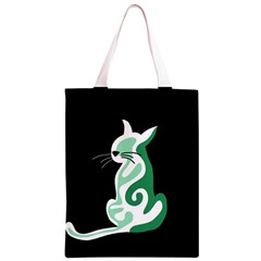 Green abstract cat  Classic Light Tote Bag by Valentinaart