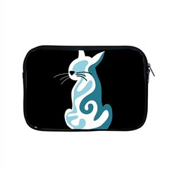 Blue Abstract Cat Apple Macbook Pro 15  Zipper Case by Valentinaart