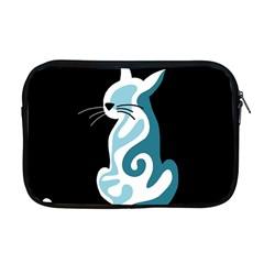 Blue Abstract Cat Apple Macbook Pro 17  Zipper Case