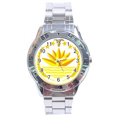National Emblem Of Bangladesh Stainless Steel Analogue Watch by abbeyz71