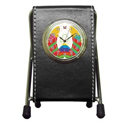 Coat Of Arms Of The Republic Of Belarus Pen Holder Desk Clocks by abbeyz71
