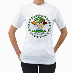 Coat of Arms of Belize Women s T-Shirt (White)