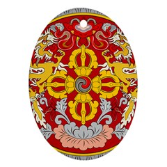 National Emblem Of Bhutan Oval Ornament (two Sides) by abbeyz71