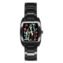 Street Cats Stainless Steel Barrel Watch by Valentinaart