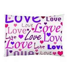 Love Pattern Pillow Case by Valentinaart