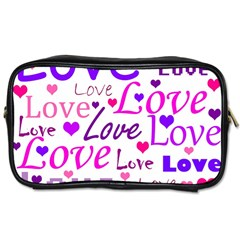 Love Pattern Toiletries Bags by Valentinaart