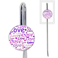 Love Pattern Book Mark by Valentinaart