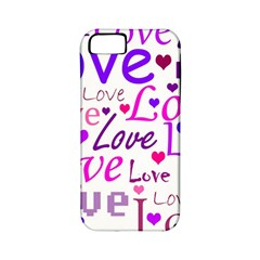 Love Pattern Apple Iphone 5 Classic Hardshell Case (pc+silicone) by Valentinaart