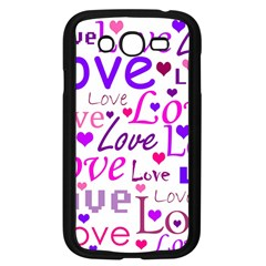 Love Pattern Samsung Galaxy Grand Duos I9082 Case (black) by Valentinaart