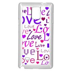 Love Pattern Samsung Galaxy Note 4 Case (white) by Valentinaart