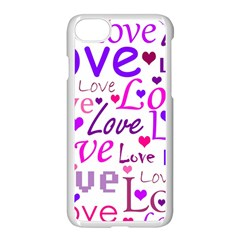 Love pattern Apple iPhone 7 Seamless Case (White) by Valentinaart