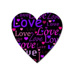 Love Pattern 2 Heart Magnet by Valentinaart