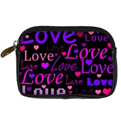 Love Pattern 2 Digital Camera Cases by Valentinaart