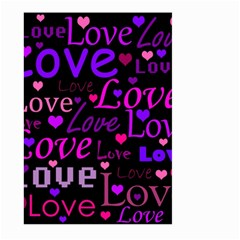 Love pattern 2 Large Garden Flag (Two Sides) by Valentinaart
