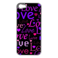 Love Pattern 2 Apple Iphone 5 Case (silver) by Valentinaart