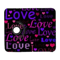 Love Pattern 2 Galaxy S3 (flip/folio) by Valentinaart
