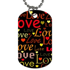 Love Pattern 3 Dog Tag (two Sides)