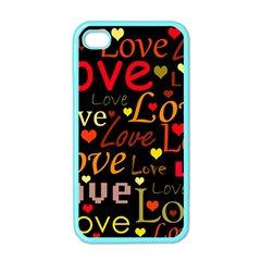 Love Pattern 3 Apple Iphone 4 Case (color) by Valentinaart