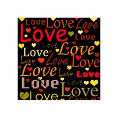 Love Pattern 3 Acrylic Tangram Puzzle (4  X 4 ) by Valentinaart