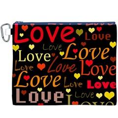 Love Pattern 3 Canvas Cosmetic Bag (xxxl) by Valentinaart