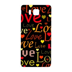 Love Pattern 3 Samsung Galaxy Alpha Hardshell Back Case by Valentinaart