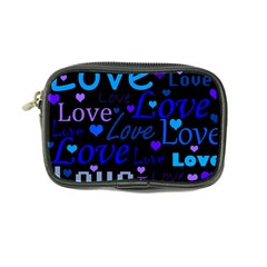 Blue Love Pattern Coin Purse by Valentinaart