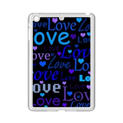 Blue Love Pattern Ipad Mini 2 Enamel Coated Cases by Valentinaart