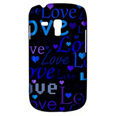 Blue Love Pattern Galaxy S3 Mini by Valentinaart