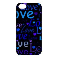 Blue Love Pattern Apple Iphone 5c Hardshell Case by Valentinaart