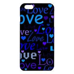 Blue Love Pattern Iphone 6 Plus/6s Plus Tpu Case by Valentinaart