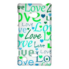 Love Pattern   Green And Blue Nokia Lumia 720 by Valentinaart