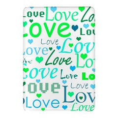 Love Pattern   Green And Blue Samsung Galaxy Tab Pro 12 2 Hardshell Case by Valentinaart