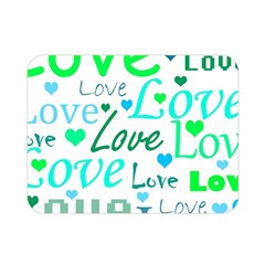 Love Pattern   Green And Blue Double Sided Flano Blanket (mini)  by Valentinaart