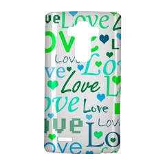 Love Pattern   Green And Blue Lg G4 Hardshell Case by Valentinaart