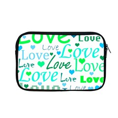 Love Pattern   Green And Blue Apple Macbook Pro 13  Zipper Case by Valentinaart
