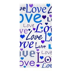 Blue And Purple Love Pattern Shower Curtain 36  X 72  (stall)  by Valentinaart