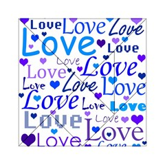 Blue And Purple Love Pattern Acrylic Tangram Puzzle (6  X 6 ) by Valentinaart