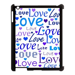 Blue And Purple Love Pattern Apple Ipad 3/4 Case (black) by Valentinaart