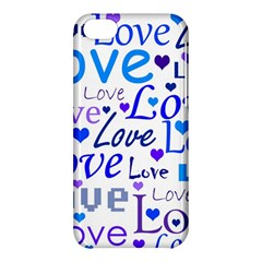 Blue And Purple Love Pattern Apple Iphone 5c Hardshell Case by Valentinaart