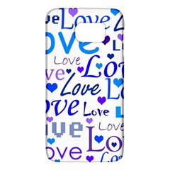 Blue And Purple Love Pattern Galaxy S6 by Valentinaart