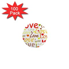 Valentine s Day Pattern 1  Mini Magnets (100 Pack)  by Valentinaart