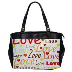 Valentine s Day Pattern Office Handbags by Valentinaart