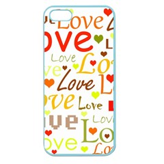 Valentine s Day Pattern Apple Seamless Iphone 5 Case (color) by Valentinaart